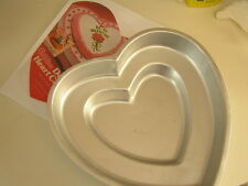Wilton DOUBLE TIER HEART Cake Pan Mold #502-2695 w/ Instructions