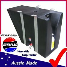 MEDIUM BLACK UTE UNDERBODY POLY WATER TANK 38 L 4X4 4WD SOAP HOLDER NEW