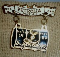 Lioness Club Ont. Can. Petrolia Dist. A-1 - 5th Anniversary 1989 Pin