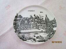Porzellan Miniatur Teller - Ulm - 9,5 cm - Alte Städtebilder   /S66