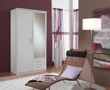 SlumberHaus German 'Berlin' 2 Door & 2 Drawers White and Mirror Door Wardrobe