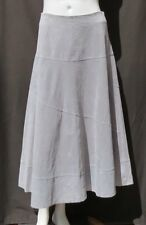 PAMELA McCOY Gray Genuine Suede Leather A Line Long Lined Skirt size 6 EUC