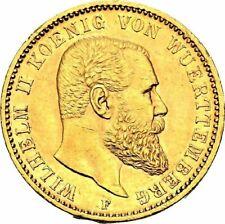 RAFFLER WÜRTTEMBERG Wilhelm II., 1891-1918 20 Mark 1894 F Gold. vz+