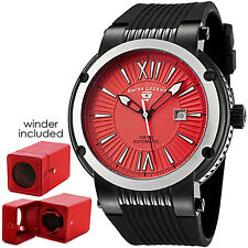 Swiss Legend Legato Cirque Men's Automatic Watch Red $1395 FREE Winder! NEW