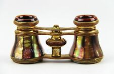 ANTIQUE FRENCH OPERA GLASSES DARK GOLDEN RAINBOW MOTHER OF PEARL # 150 PARIS