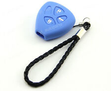 Blue Silicone Case Cover Holder For Toyota Matrix 3 Buttons Remote Key 4 B027BU