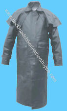 MENS COWHIDE LEATHER BIKER DUSTER TRENCH COAT JACKET