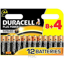 12 Pack Duracell Plus Power AA Batteries 1.5V Alkaline MN1500 LR6