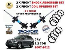 FOR HONDA CRV 2.2 CDTI 2007-> 2x FRONT SHOCK ABSORBER STRUT SET + 2x COIL SPRING