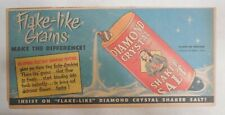 Diamond Salt Ad: Flake Like Grains ! from 1951 Size: 7. x 15 inches