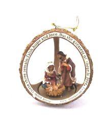 Fontanini Holy Family Sphere Ornament 56203 Nativity Mary Jesus Christmas Bin T