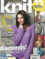 Let's Knit Magazine Empire Lace Jumper Stylish Wrap Sweater Men's Houndstooth