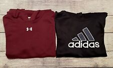 Lot Of 2 Boys Youth Extra Large Adidas & Under Armour UA Hoodies Sweatshirts EXC