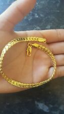 Plated Bracelet Mens 18k Gold