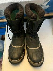 Sorel Caribou schwarz Eur 43 1/2 UK9 guter zustand wenig getragen