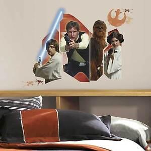 Wandsticker Star Wars Eine neue Hoffnung Wandtattoo Luke Skywalker Han Solo NEU