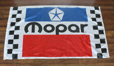 New Mopar Racing Flag Dodge Motorsports Checkered Banner 3' x 5' Auto Car Race
