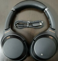 Sony WH-1000XM3/B Bluetooth Wireless Noise Canceling Stereo Headphones Black **