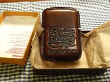 VINTAGE ZIPPO HARLEY DAVIDSON LEATHER ENCASED LIGHTER 1990s