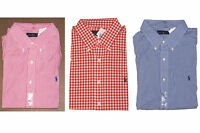 Polo Ralph Lauren Mens Button Down Long Sleeve Pony Logo Casual Dress Shirt