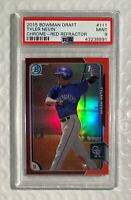 2015 BOWMAN CHROME #111 TYLER NEVIN PSA 9 MINT RC RED REFRACTOR Rookie /5