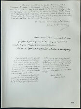 1926 - Litografia Citazione il cardinale Andrieu, di Cabrières, Charost