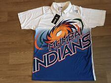 adidas Mumbai Indian Short Sleeve Mens Cricket Top - White Size Large