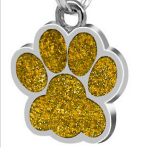 Paw  Laser Custom Engraved Dog Cat Tag Personalized with Free Split Ring