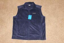 Columbia Sportswear Granite Mountain Navy Blue Fleece Vest Mens L