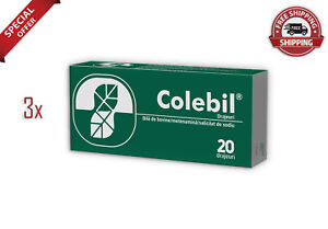Colebil Treatment for nausea, bitter taste, Migraine Pack of 3x20, FREE SHIPPING