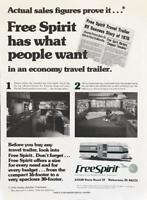 1976 Holiday Rambler Corp Free Spirit Travel Trailer Print Ad What People Want