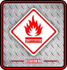 Flamable Vinyl Sticker Decal Not A Sign Safety Signage Bnip *Free Postage*