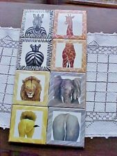 Safari Ceramic Tile Kitchen Backsplash Zebra Giraffe Lion Elephant Wild Life NEW