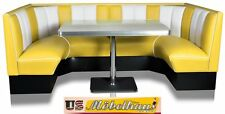 HW-120/120 YEL American Furniture Diner Bench Corner Seat bänk Retro USA Style