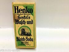 alte Pappschachtel,Henko,Henkel`s Bleich u.Wasch Soda,Zubehör,Kaufmannsladen