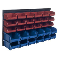 Small Parts Bins Organizer Storage Plastic 30 Boxes Wall Mount Rack Top Quality