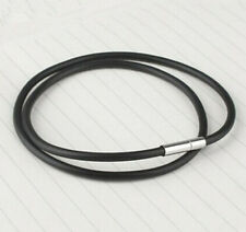 Fashion Men's Stainless Steel Clasp Cowhide PU Leather Cord Pendant Necklace Hot
