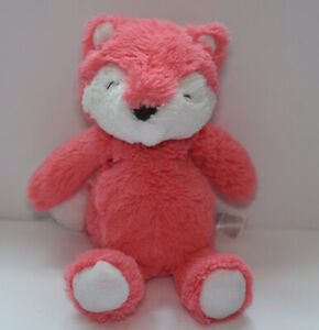 Carters Salmon Pink White Fox Plush Stuffed Animal Soft Baby Toy Lovey 66935