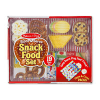 Melissa And Doug Store And Serve Snack Food Play Set NEW Toys Kids