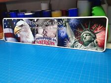 "Proud to be an American Metal sign 6"" x 24"""