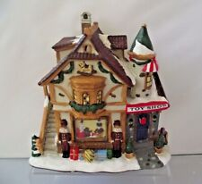 Light Up Christmas Snow Capped Toy Shop Ceramic Building