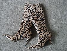 Stiefel von L'AUTRE CHOSE, Gr. 38, beige / schwarz, Leopardenmuster, RAR!!!