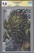 Justice League Dark #12 CGC SS 9.8 Clayton Crain signed Swamp Thing DC comics
