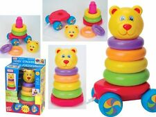 FUN Time - 2 in 1 TEDDY FASCICOLATORE & Pull lungo BABY Toddler TOY 9months +