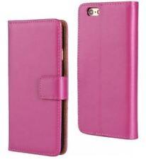 iPhone 6 / 6S lederen hoesje - donker roze