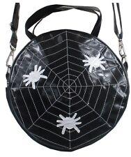 Spiderweb Spider's Round shape Purse Shoulder Bag PVC Black Patent