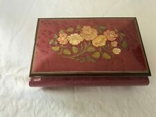 San Francisco Music Box Co By Paturzo Giovanni. Floral Deep Rose.Sorrento Italy