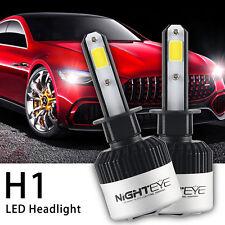 2x Nighteye H1 72W COB 9000LM LED Headlight KIT White Beam Replace Halogen Xenon