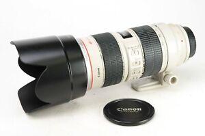 Canon EF 70-200mm F2.8 L IS USM Lens + Front & Rear Lens Caps & Hood -