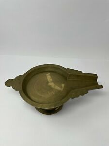 Vintage Old Brass Hand Crafted Shivling Stand Collectible Decorative NH5849